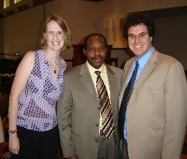 Mrs. Annie Hall, Mr. Paul Rusesabagina (featured in Hotel Rwanda), and Dr. David M. Hall