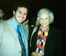 Dr. David M. Hall and Supreme Court Justice Sandra Day O'Connor