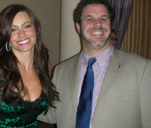 Sofia Vergara and Dr. David M. Hall